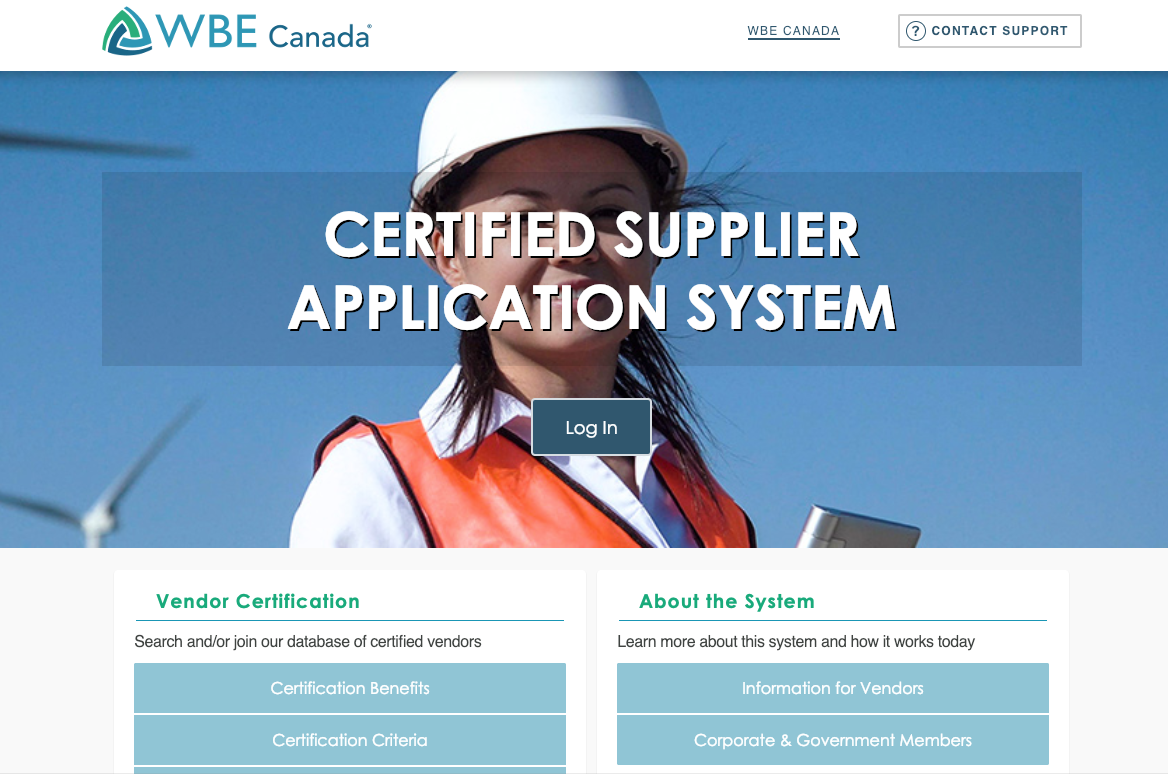 WBE Canada supplier database