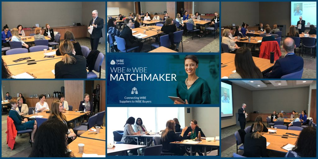 WBE 2 WBE Matchmaker Event Collage