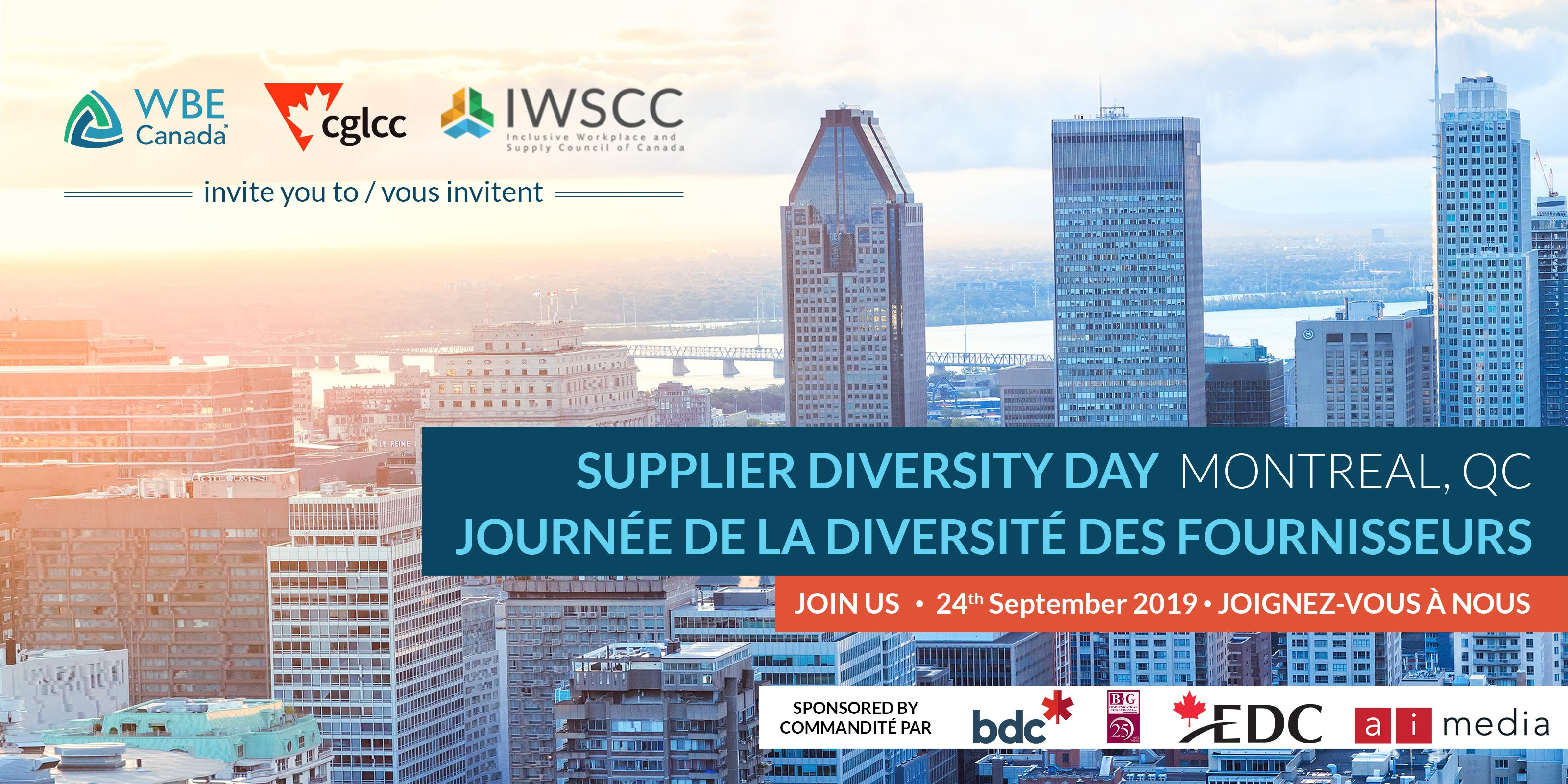 Supplier Diversity Day Montreal 2019 header
