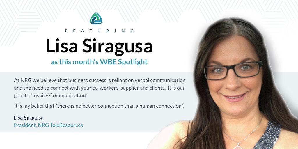 WBE Spotlight: Lisa Siragusa