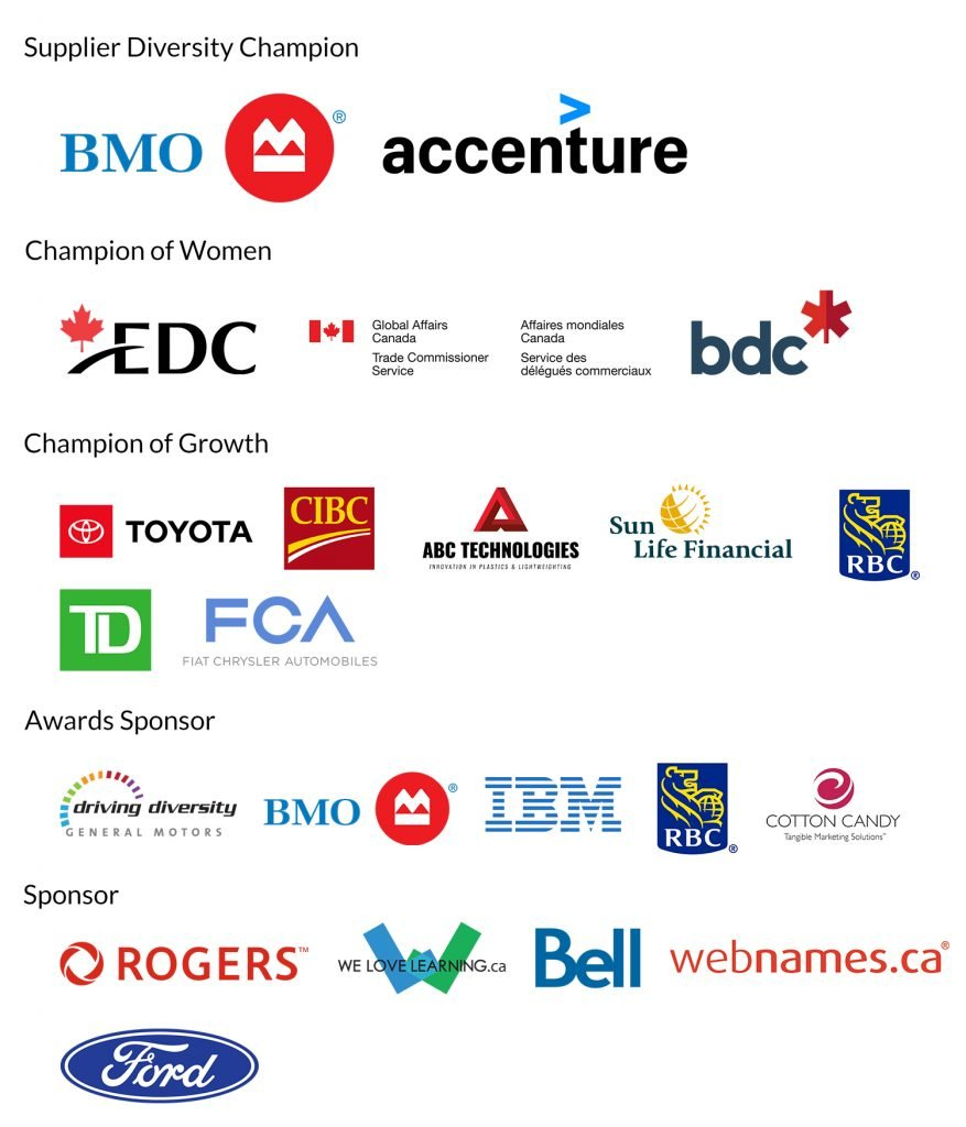 WBE Canada Conference Sponsors 2019
