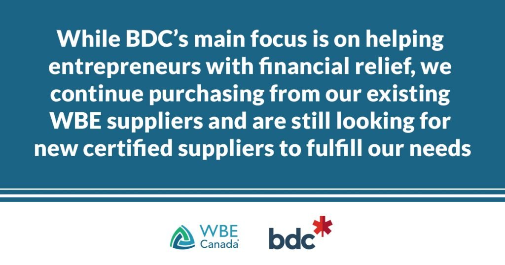 Supplier diversity during COVID-19 - BDC supply chain