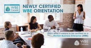 Newly Certified WBE Orientation