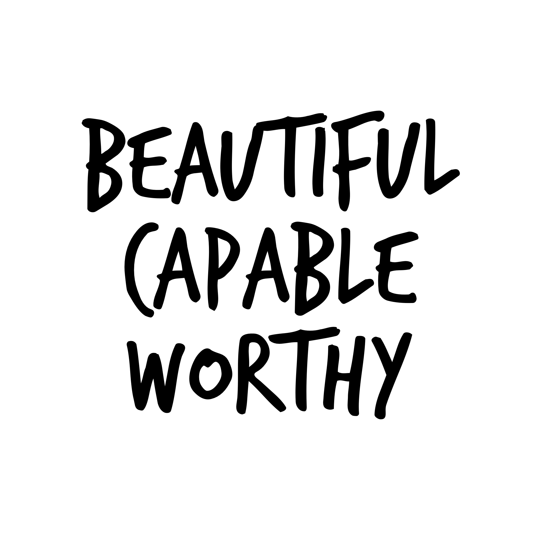Beautiful.Capable.Worthy